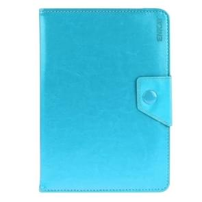 Universal Crazy Horse Texture Horizontal Flip Leather Case with Holder for 9 inch Tablet PC(Blue)