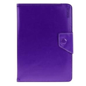 Universal Crazy Horse Texture Horizontal Flip Leather Case with Holder for 9 inch Tablet PC(Purple)