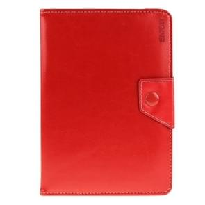 Universal Crazy Horse Texture Horizontal Flip Leather Case with Holder for 9 inch Tablet PC(Red)