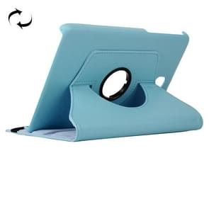 Litchi Texture 360 Degree Rotating Leather Case with Holder for Samsung Galaxy T350(Baby Blue)
