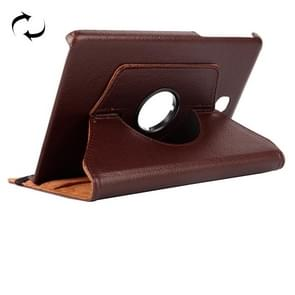 Litchi Texture 360 Degree Rotating Leather Case with Holder for Samsung Galaxy T350(Brown)