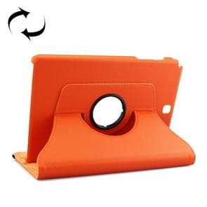 Litchi Texture 360 Degree Rotating Leather Protective Case with Holder for Samsung Galaxy Tab A 9.7 / P550(Orange)