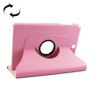 Litchi Texture 360 Degree Rotating Leather Protective Case with Holder for Samsung Galaxy Tab A 9.7 / P550(Pink)