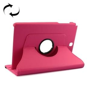 Litchi Texture 360 Degree Rotating Leather Protective Case with Holder for Samsung Galaxy Tab A 9.7 / P550(Magenta)