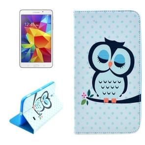 Owl Pattern Horizontal Flip Leather Case with Holder for Samsung Galaxy Tab 4 7.0 / SM-T230