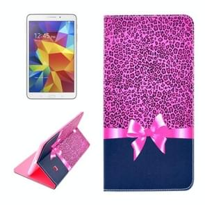 Pink Leopard Pattern Horizontal Flip Leather Case with Holder for Samsung Galaxy Tab 4 8.0 / T330