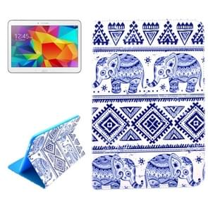 Elephant Pattern Horizontal Flip Leather Case with Holder for Samsung Galaxy Tab 4 10.1 / T530