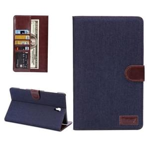 Denim Texture Horizontal Flip Leather Case with Card Slot & Wallet & Holder for Samsung Galaxy Tab S 8.4 / T700(Dark Blue)