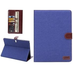 Denim Texture Horizontal Flip Leather Case with Card Slot & Wallet & Holder for Samsung Galaxy Tab S 10.5 / T800(Blue)