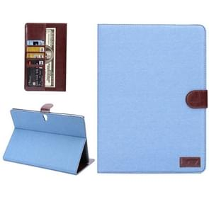 Denim Texture Horizontal Flip Leather Case with Card Slot & Wallet & Holder for Samsung Galaxy Tab S 10.5 / T800 (Baby Blue)