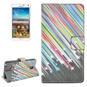 Shooting Star Pattern Flip Leather Case with Holder & Card Slots for Samsung Galaxy Note 4 / N910