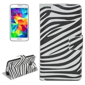 Zebra Stripe Pattern Flip Leather Case with Holder & Card Slots for Samsung Galaxy S5 / G900