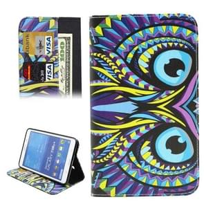 Colorful Cartoon Owl Pattern Horizontal Flip Leather Case with Holder & Card Slots & Wallet for Samsung Galaxy Tab 4 7.0 / T230