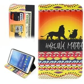HAKUNA MATATA Pattern Horizontal Flip Leather Case with Holder & Card Slots & Wallet for Samsung Galaxy Tab 4 7.0 / T230