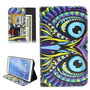 Colorful Cartoon Owl Pattern Horizontal Flip Leather Case with Holder & Card Slots & Wallet for Samsung Galaxy Tab 4 8.0 / T330