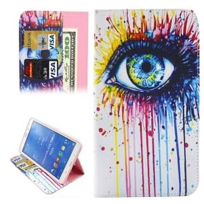 Coloured Drawing Eye Pattern Horizontal Flip Leather Case with Holder & Card Slots & Wallet for Samsung Galaxy Tab 4 8.0 / T330