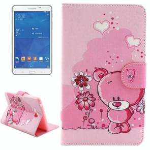 Little Bear Pattern Horizontal Flip Leather Case with Holder & Card Slots & Wallet for Samsung Galaxy Tab 4 7.0 / T230