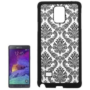 Embossed Flowers Pattern Protective Hard Case for Samsung Galaxy Note 4 / N910(Black)