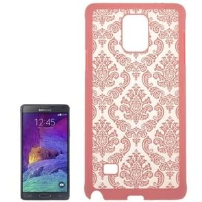 Embossed Flowers Pattern Protective Hard Case for Samsung Galaxy Note 4 / N910(Pink)