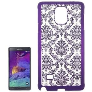 Embossed Flowers Pattern Protective Hard Case for Samsung Galaxy Note 4 / N910(Purple)