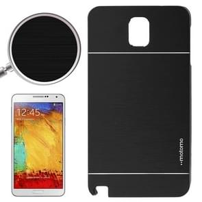 2 in 1 Brushed Texture Metal & Plastic Protective Case for Samsung Galaxy Note III(Black)