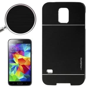 2 in 1 Brushed Texture Metal & Plastic Protective Case for Samsung Galaxy S5(Black)