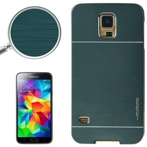 2 in 1 Brushed Texture Metal & Plastic Protective Case for Samsung Galaxy S5 (Deep Green)