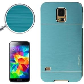 2 in 1 Brushed Texture Metal & Plastic Protective Case for Samsung Galaxy S5(Blue)