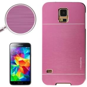 2 in 1 Brushed Texture Metal & Plastic Protective Case for Samsung Galaxy S5(Purple)