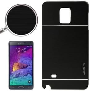 2 in 1 Brushed Texture Metal & Plastic Protective Case for Samsung Galaxy Note 4 / N910(Black)