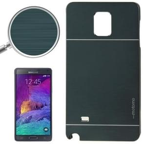 2 in 1 Brushed Texture Metal & Plastic Protective Case for Samsung Galaxy Note 4 / N910 (Deep Green)
