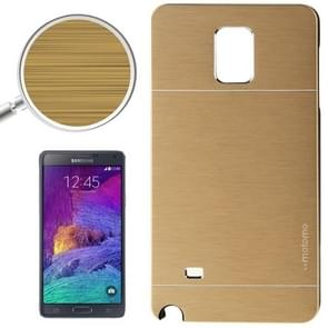 2 in 1 Brushed Texture Metal & Plastic Protective Case for Samsung Galaxy Note 4 / N910(Gold)