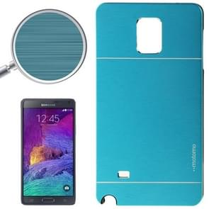 2 in 1 Brushed Texture Metal & Plastic Protective Case for Samsung Galaxy Note 4 / N910(Blue)