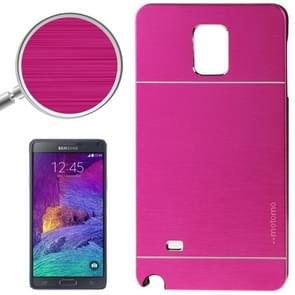 2 in 1 Brushed Texture Metal & Plastic Protective Case for Samsung Galaxy Note 4 / N910(Magenta)
