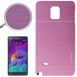 2 in 1 Brushed Texture Metal & Plastic Protective Case for Samsung Galaxy Note 4 / N910(Purple)