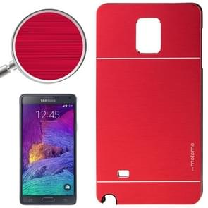 2 in 1 Brushed Texture Metal & Plastic Protective Case for Samsung Galaxy Note 4 / N910(Red)