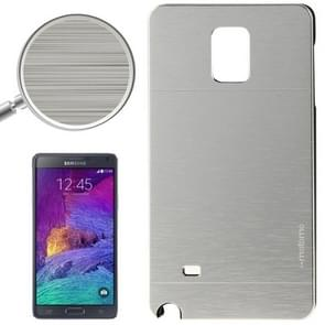 2 in 1 Brushed Texture Metal & Plastic Protective Case for Samsung Galaxy Note 4 / N910(Silver)