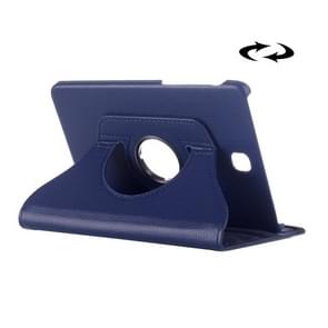 Litchi Texture 360 Degree Rotation Leather Case with multi-functional Holder for Samsung Galaxy Tab S2 8.0(Dark Blue)