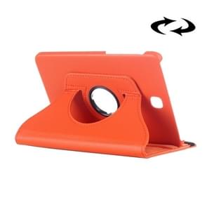 Litchi Texture 360 Degree Rotation Leather Case with multi-functional Holder for Samsung Galaxy Tab S2 8.0(Orange)
