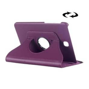 Litchi Texture 360 Degree Rotation Leather Case with multi-functional Holder for Samsung Galaxy Tab S2 8.0(Purple)