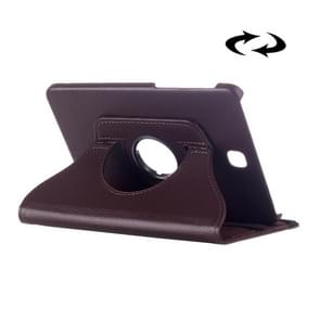 Litchi Texture 360 Degree Rotation Leather Case with multi-functional Holder for Samsung Galaxy Tab S2 8.0(Brown)