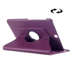 Litchi Texture 360 Degree Rotation Leather Case with multi-functional Holder for Samsung Galaxy Tab S2 9.7(Purple)