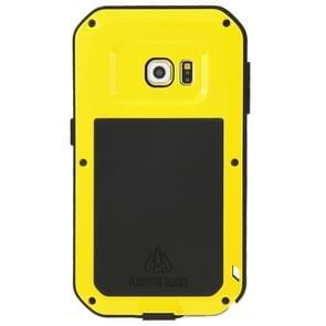 LOVE MEI for Samsung Galaxy S6 Edge Metal Ultra-thin Waterproof Dustproof Shockproof Powerful Protective Case(Yellow)