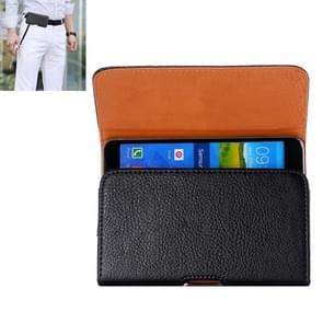 Litchi Texture Universal Horizontal Style Leather Case with Belt Hole for Samsung Galaxy Mega i9208 / i9200 / Mega 2 / i9205(Black)