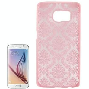 For Samsung Galaxy S6 / G920 Embossed Flowers Pattern Protective Hard Case (Pink)