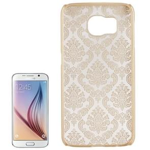 For Samsung Galaxy S6 / G920 Embossed Flowers Pattern Protective Hard Case (Gold)