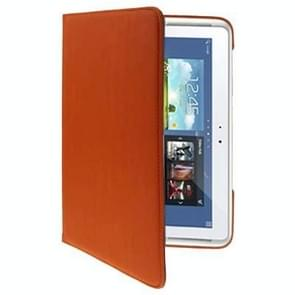 360 Degree Rotatable Cloth Texture 2-angle Viewing Holder Leather Case for Samsung Galaxy Note (10.1) / N8000(Orange)