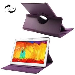 360 Degree Rotatable Litchi Texture Leather Case with 3-angle Viewing Holder for Samsung Galaxy Note & Tab Pro 12.2 / P900(Purple)