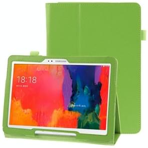 Litchi Texture Leather Case with Holder for Samsung Galaxy Tab Pro 10.1 / T520(Green)