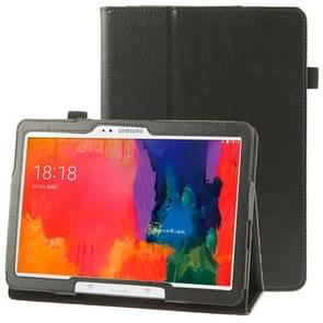 Litchi Texture Leather Case with Holder for Samsung Galaxy Tab Pro 10.1 / T520(Black)